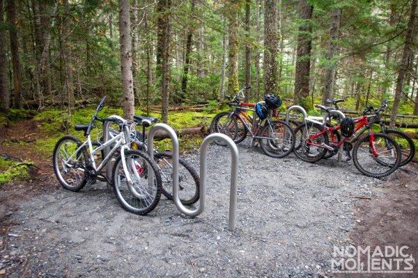 Berg Lake Trail Bike Rack