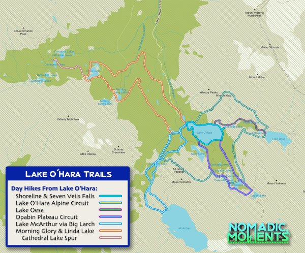 Lake O'Hara Trail Map