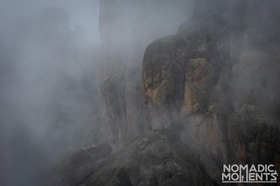 Cloudy when Visiting Pinnacles National Park