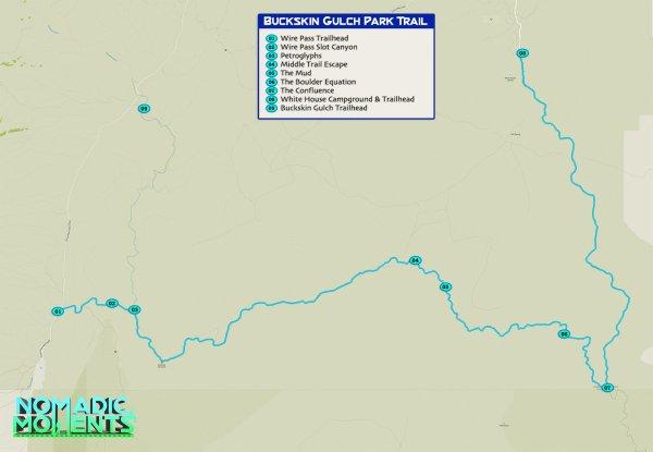 Buckskin Gulch Map