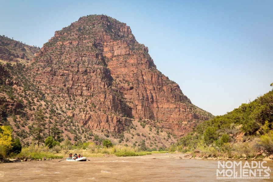 Rafting the Gates of Lodore through the canyon