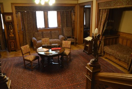 Royal composer's room at Peleș Castle in Sinaia, Romania