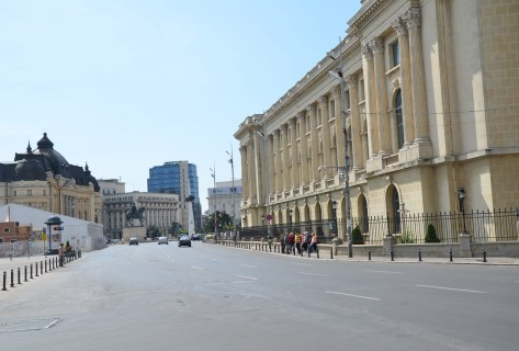 Looking south towards Piața Revoluției in Bucharest, Romania