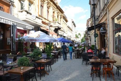 Strada Lipscani in Bucharest, Romania