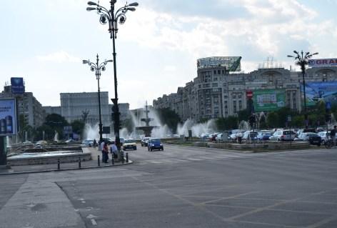 Piața Unirii in Bucharest, Romania