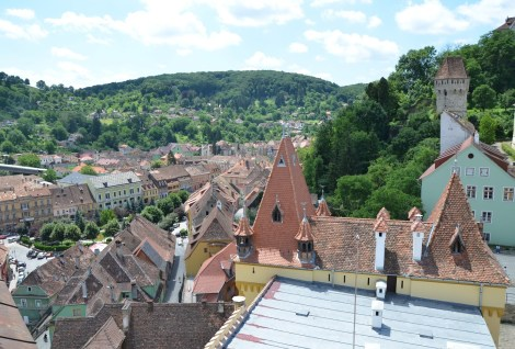 View from Turnul cu Ceas in Sighişoara, Romania