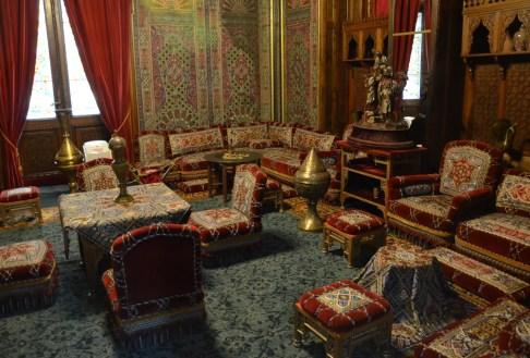 Turkish room at Peleș Castle in Sinaia, Romania