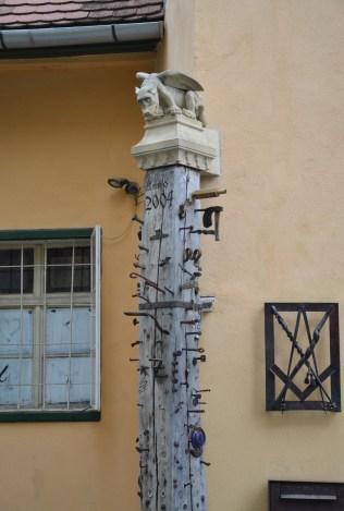Apprentices' Pillar in Sibiu, Romania