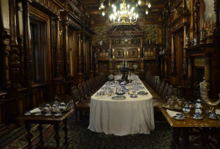 Dining room at Peleș Castle in Sinaia, Romania