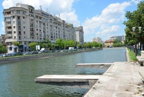 Dâmbovița River in Bucharest, Romania