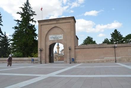 Entrance to the Hacıbektaş Külliyesi in Hacıbektaş, Turkey