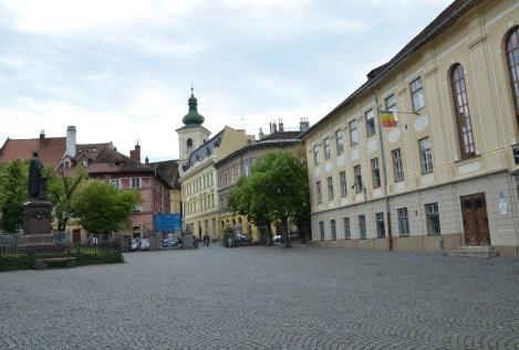 Piața Huet in Sibiu, Romania