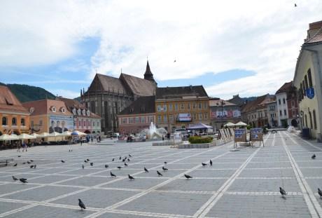 Piața Sfatului in Braşov, Romania