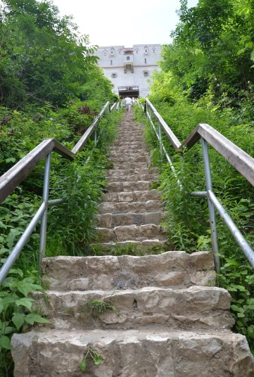 Stairs to White Tower in Braşov, Romania