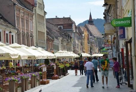 Strada Republicii in Braşov, Romania