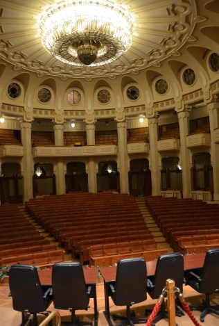 Theatre at Palace of Parliament in Bucharest, Romania