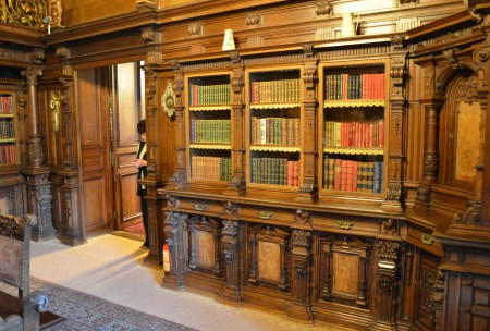King's library at Peleș Castle in Sinaia, Romania