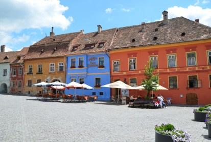 Piața Cetății in Sighişoara, Romania
