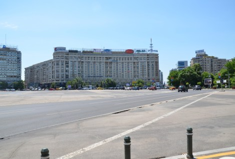 Piața Victoriei in Bucharest, Romania
