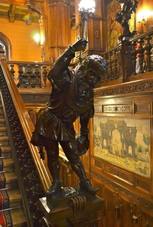 Palace dwarf at Peleș Castle in Sinaia, Romania