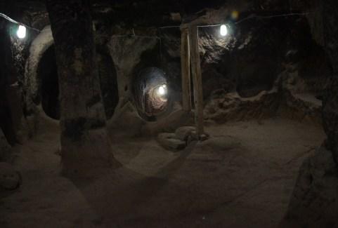 Cave at Eski Gümüşler Manastırı in Turkey