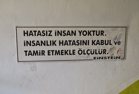 Quote by Albert Einstein at Sinop Cezaevi in Sinop, Turkey