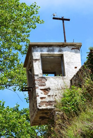 Watch tower at Sinop Cezaevi in Sinop, Turkey