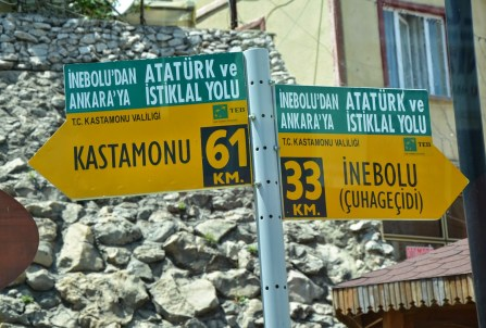 Atatürk ve İstiklal Yolu from Kastamonu to İnebolu, Turkey