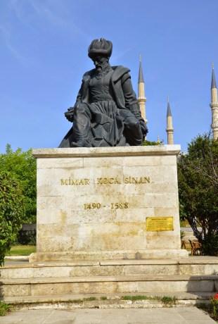 Mimar Sinan monument in Edirne, Turkey