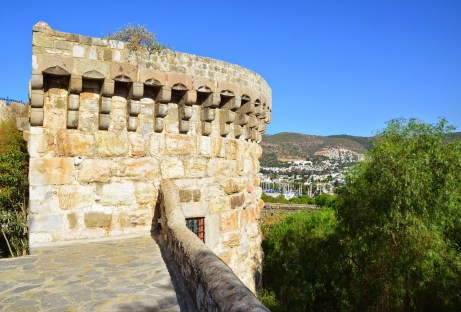 German Tower at the Castle of St. Peter in Bodrum, Turkey