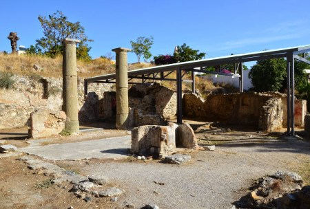 Basilica in the Western Excavation Area in Kos, Greece