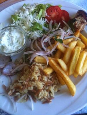 My lunch in Kos, Greece