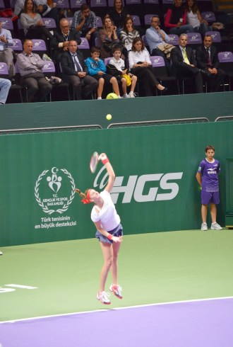 Petra Kvitová in the 2012 WTA Championships at the Sinan Erdem Spor Salonu in Bakırköy, Istanbul, Turkey