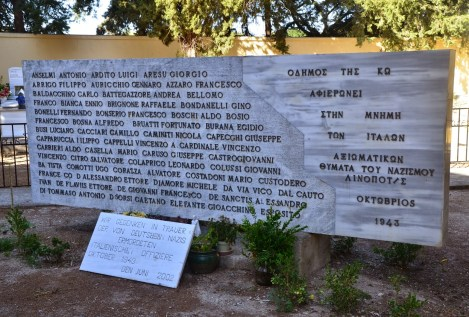 Memorial for Italian officers in Kos, Greece