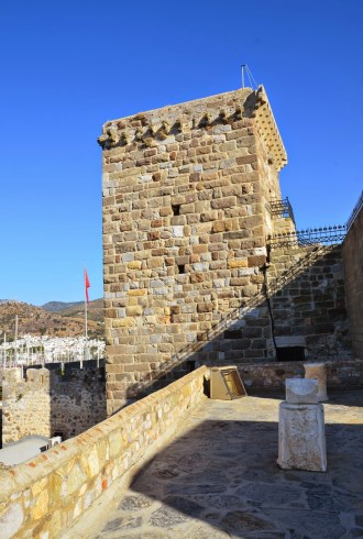 Italian Tower at the Castle of St. Peter in Bodrum, Turkey
