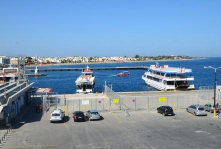 Ferry terminal in Kos, Greece
