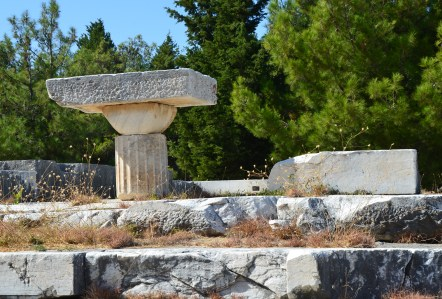 Doric temple at the Asklepeion of Kos, Greece