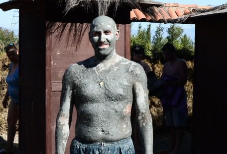 Me at the mud bath near Dalyan, Turkey