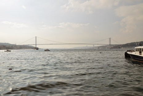 View of Boğaziçi Köprüsü from Çengelköy, Istanbul, Turkey