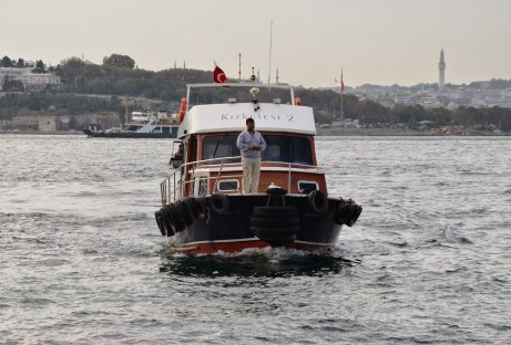 Boat at Kız Kulesi in Üsküdar, Istanbul, Turkey