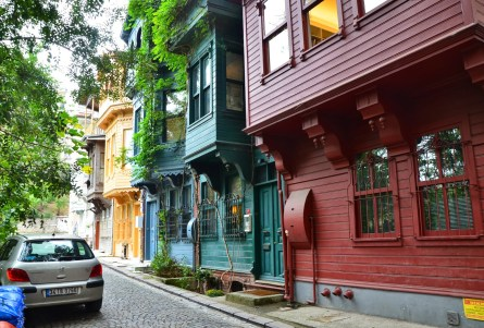 Ottoman homes in Kuzguncuk, Istanbul, Turkey