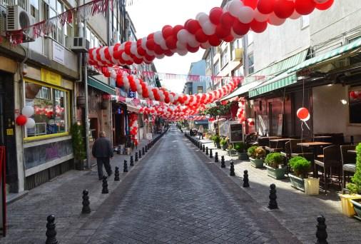 Kadife Sokak in Moda, Kadıköy, Istanbul, Turkey