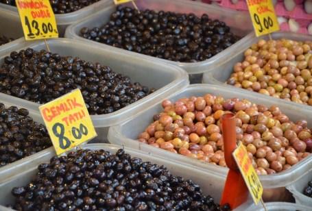 Olives in Üsküdar, Istanbul, Turkey