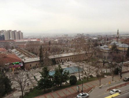 View from the Kent Hotel in Bursa, Turkey