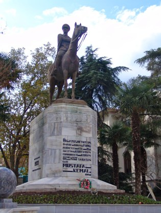 Atatürk monument in Bursa, Turkey