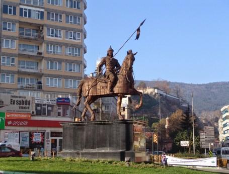 Osman I monument in Bursa, Turkey