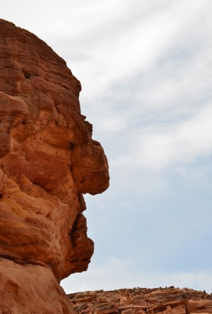 Angry Old Man? at the Fake Colored Canyon in Sinai, Egypt