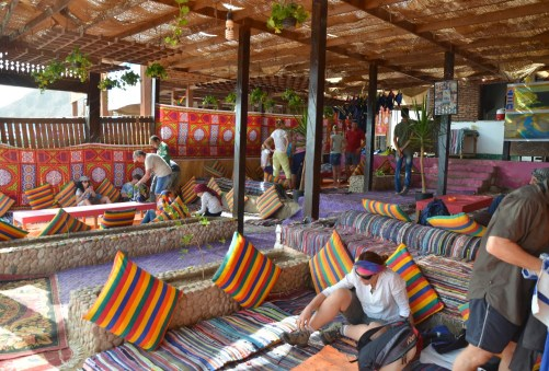 Restaurant at Abu Galom in Sinai, Egypt