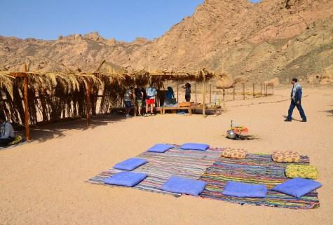 Bedouin camp on the desert safari in Sinai, Egypt