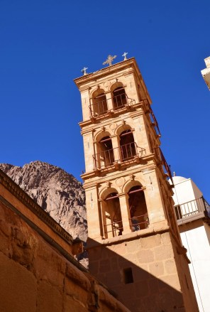 Bell tower at St. Catherine's Monastery in Sinai, Egypt